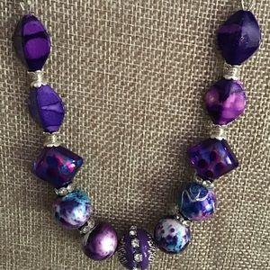 Handmade necklace;different color/shades of purple